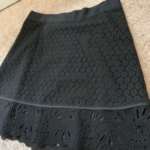 LOFT lace eyelet skirt